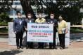 도의회 김성일‧조광영 의원, 재해구호품 선풍기 50대 전달